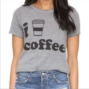 Chaser I Heart Coffee Graphic Tee Gray Small